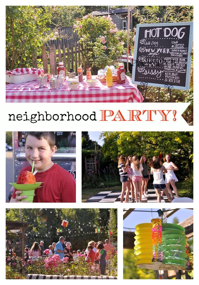 Neighborhood Party @yourhomebasedmom.com