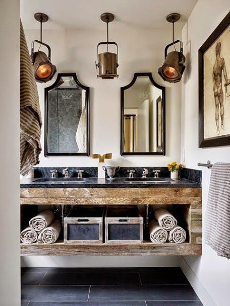 URBAN FARMHOUSE ... LORI DUNCAN - STYLE: Amazing Bathroom - the Epitamy of Rustic and Chic