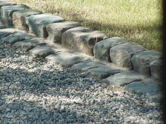 36. Antique Granite Cobble For Edging