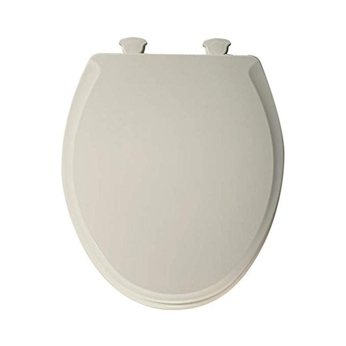 Church 640e2 346 Round Easy Off Toilet Seat With Soft Close Linen