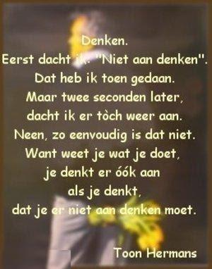 Hersenspinsels: Denken Toon Hermans jaaaa zo gaat het...:-)