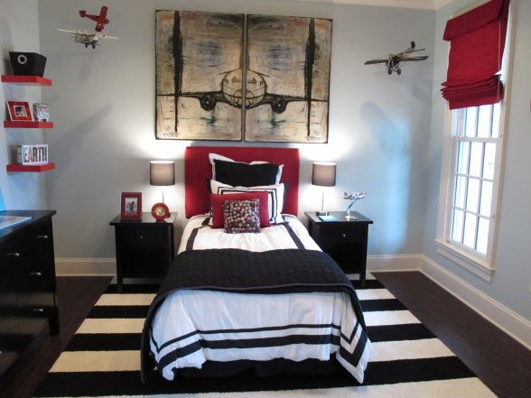 "Love this ""Big Boy"" room. The rug makes the whole room pop!"