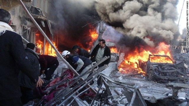 90 killed in punishing air raids in Syria's Aleppo - CNN #Syria, #Aleppo