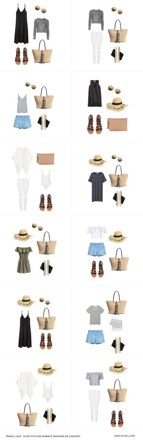 Summer packing list on a budget. 20 items, 12 outfits, 1 carry on, at a price that you can afford! Every item under $50.