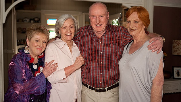 Colleen, Celia, Alf, and Morag