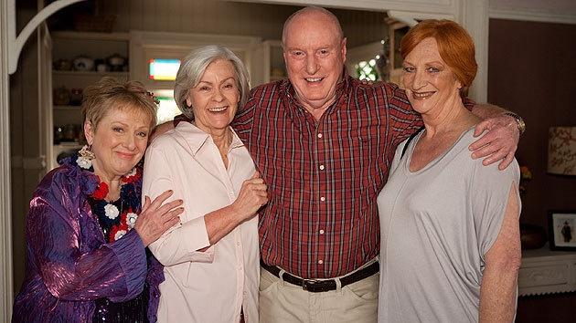 Colleen, Celia, Alf, and Morag