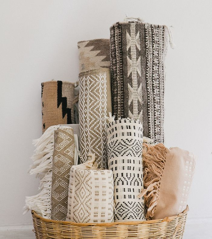 White & natural rugs