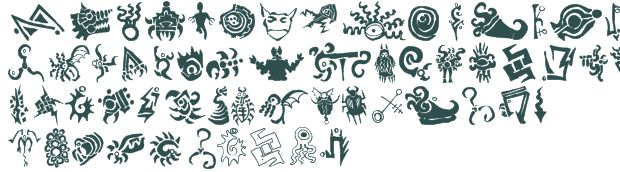 Cthulhu Glyphs font download free (truetype)
