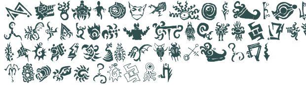 Cthulhu Glyphs font download free (truetype)