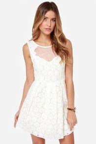 Don't Wanna Bliss a Thing Ivory Lace Dress