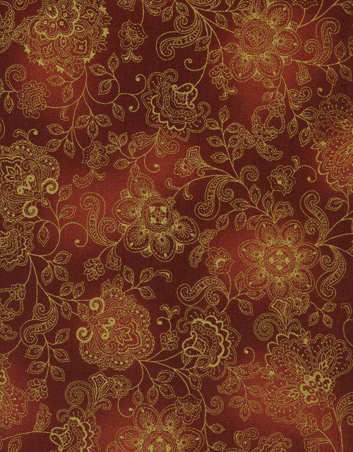 Timeless Treasures - Pashmina CM1144-Rust