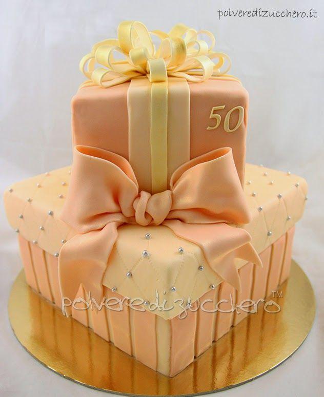 Polvere di Zucchero: cake design e sugar art. Corsi decorazione torte,biscotti,cupcakes e fiori: Torta 50esimo compleanno: ricetta sponge cake e torta pacchi regalo a due piani