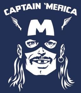 Captain 'Merica T-Shirt - Headline Shirts - Funny T Shirts - Intelligently Funny Tees