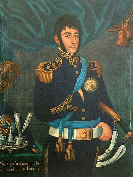 San Martín, oleo  José Gil de Castro, Buenos Aires 1818