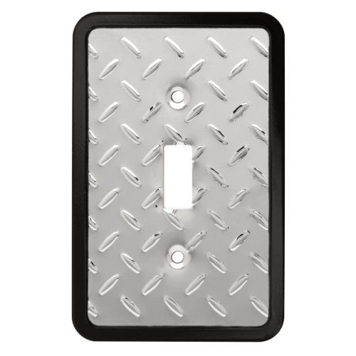 diamond plate single switch wall plate switch plate cover brainerd. Black Bedroom Furniture Sets. Home Design Ideas
