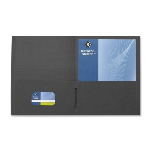Business Source 2-Pocket Folders, 125 Sh. Cap., 11