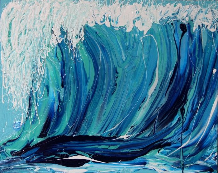 Annette Spinks - about to break http://www.bluethumb.com.au/annettespinks #wave #Australia #art #beach #nature #beautiful