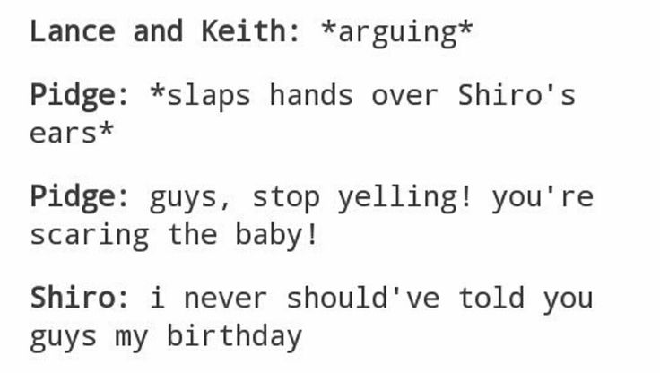 Shiro really shouldn't have told the Paladins what day his birthday was - Shiro, Lance, Keith, Pidge