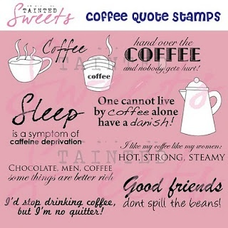 Coffee Quote Stamps