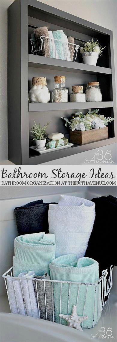 Aufbewahrungs- und Organisationsideen für Badezimmer bei the36thavenue.com #reinigung #badezimmer #Badezimmerorganisation