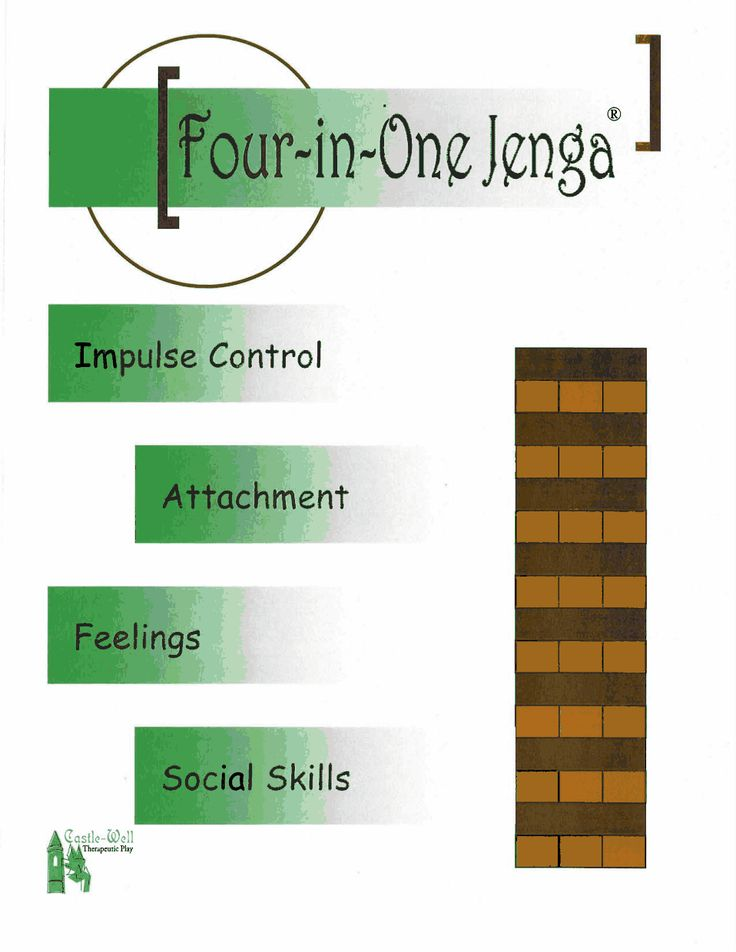 Totally re-pin worthy! You'll use this again and again. Oh, yes! // 4 in 1 jenga.pdf Impulse Control, Attachment, Feelings and Social Skills