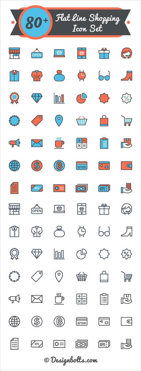 Free Icon Set: Shopping Line