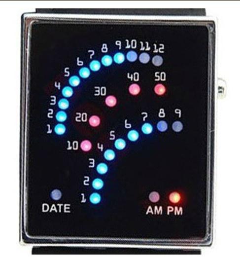 Fashion Arc Couple LED Wrist Unisex Watches   ebuyyo.com