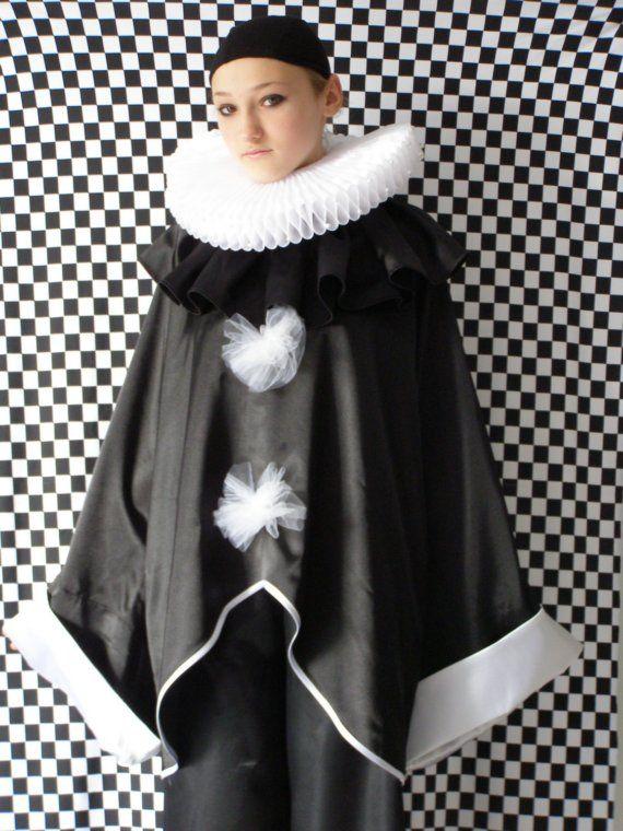 Modern Clown :: Pierrot - Costume Renaissance Etsy Shop