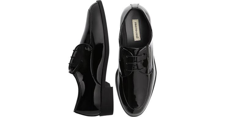 Pronto Uomo Patent Leather Tuxedo Shoes