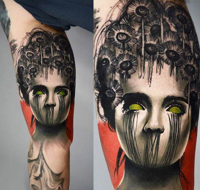Abstract Woman Tattoo by Timur Lysenko | Tattoo No. 12734