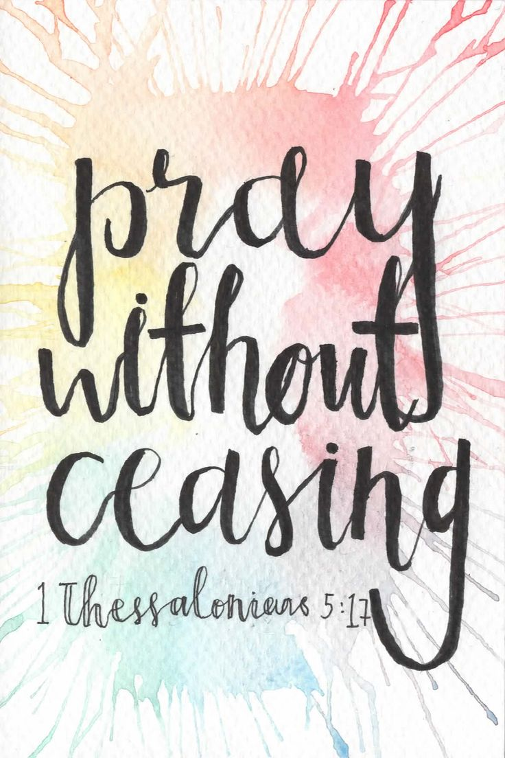 Pray Without Ceasing Postcard // 1 Thessalonians 5:17 via Jillehdoodles. Click on the image to see more!