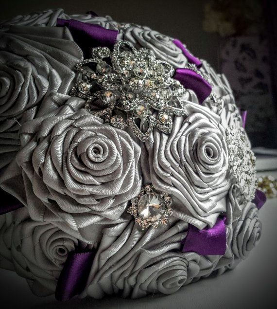 Brooch Bouquet Bridal bouquet  Wedding by thevintageflorist