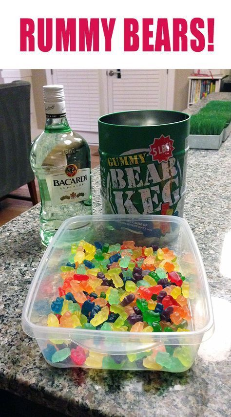 rummy bears ....perfect for Memorial Day Weekend party!