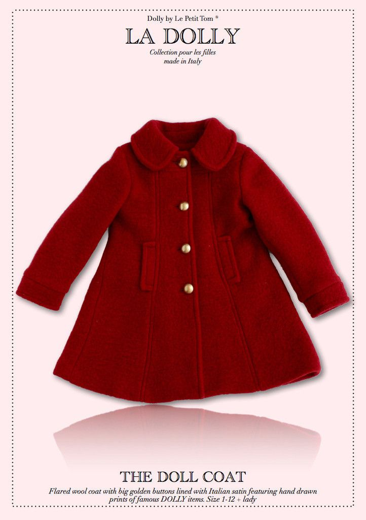 LA DOLLY 'the DOLL COAT' made in Italy - red