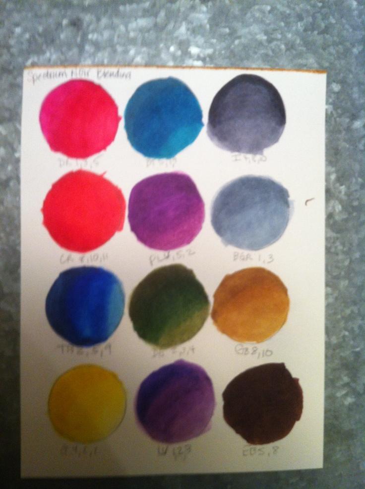17 best images about crafts spectrum noir colors tips for Paint color spectrum