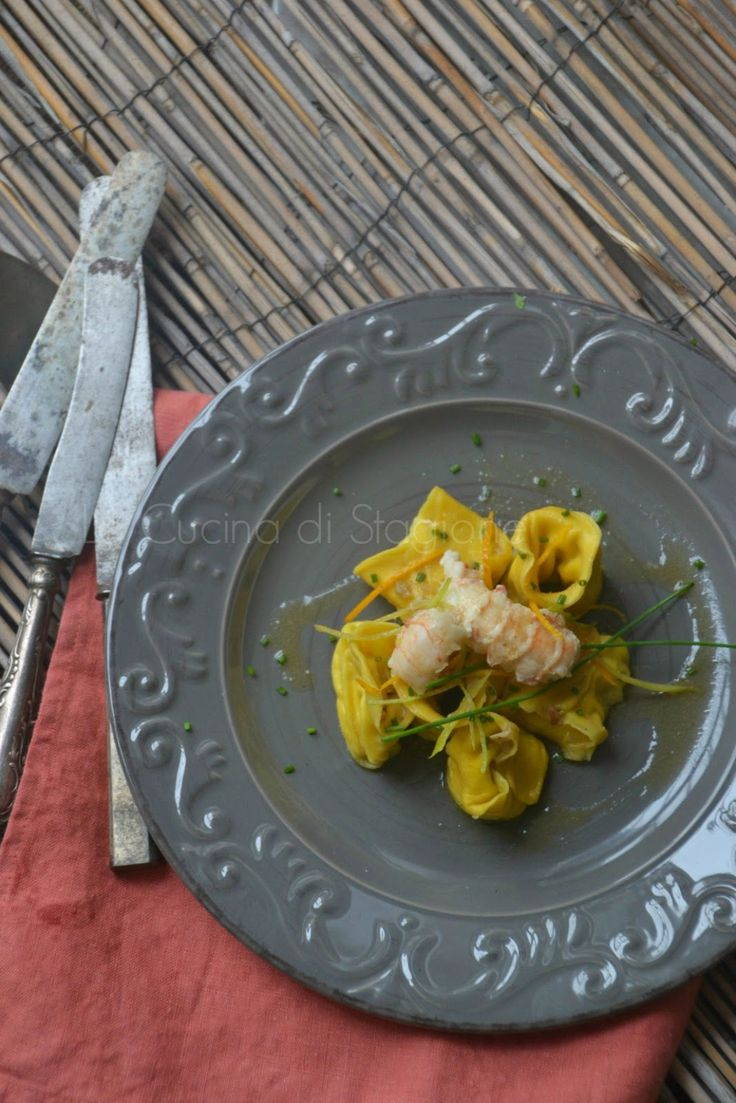 La Cucina di Stagione: Ravioli agli scampi, ricotta ed agrumi