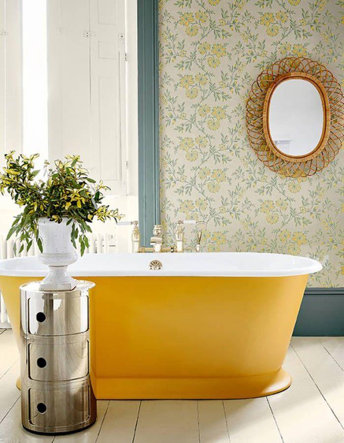 Les 25 meilleures id es de la cat gorie salles de bains - Papier peint vinyle pour salle de bain ...