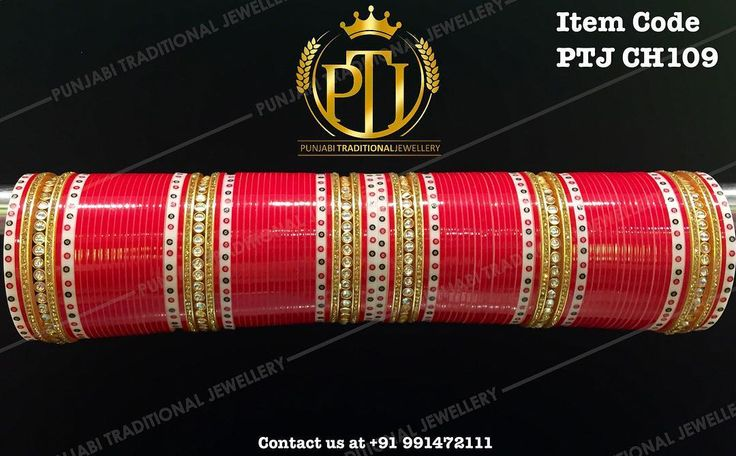 "Punjabi Traditional ""Kundan Red Wedding Churra""  Item Code - PTJ CH109  For price please inbox with Image or WhatsApp at this number +91 9914721111 or you can email us at Punjabijewellery@gmail.com #punjabi #traditional #Red #kundan #wedding #chura #choora #punjabichura #sikhwedding #indianwedding"