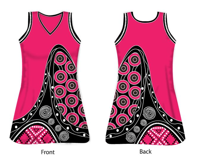 Australian Aboriginal Art Inspired Netball Uniform