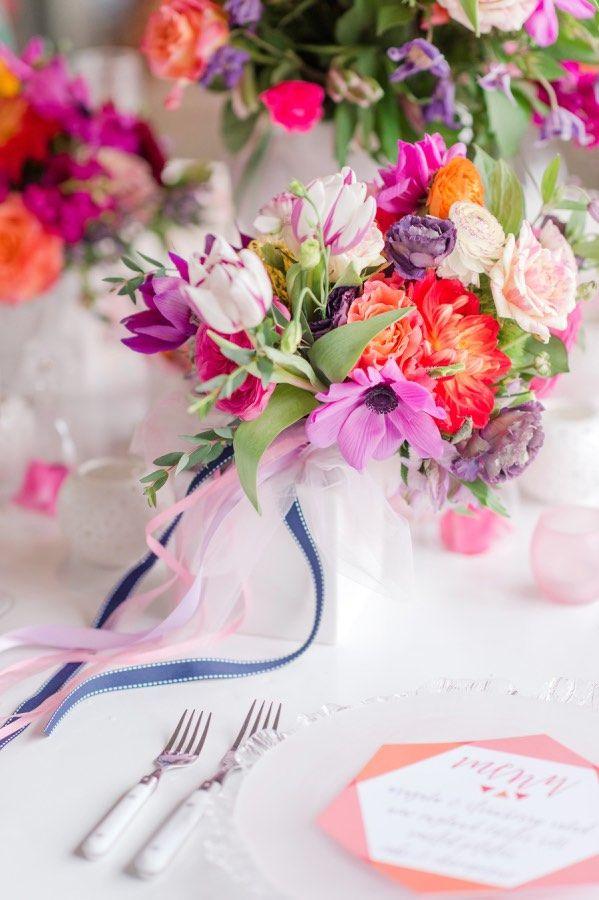 Colorful Pennsylvania Wedding Vow Renewals - MODwedding