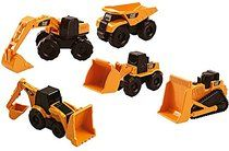 Happy People 35970 - Toy State, Cat, Baufahrzeuge 5-er Pack Mini Machines