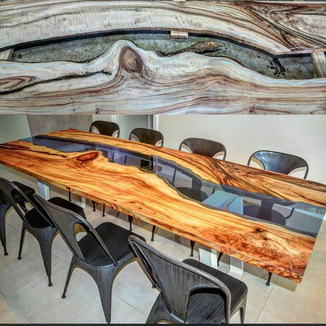 So this is the transformation, from firstly, discovering the two perfectly flowing timber slabs. Timbers with complimenting natural live edges, and striking feature markings... To the finished product, a modernly beautiful and functional timberslab table, which will be adored by its new owners for decades. www.wildaboutwood.com.au #wildaboutwoodfurniture #furniture #furnitureporn #furnituredesign #bespoke #bespokefurniture #liveedge #gotwood #timber #table #tabletop #living #handcrafted…