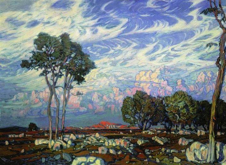 Last Rays, 1903 - Konstantin Bogaevsky, Symbolism