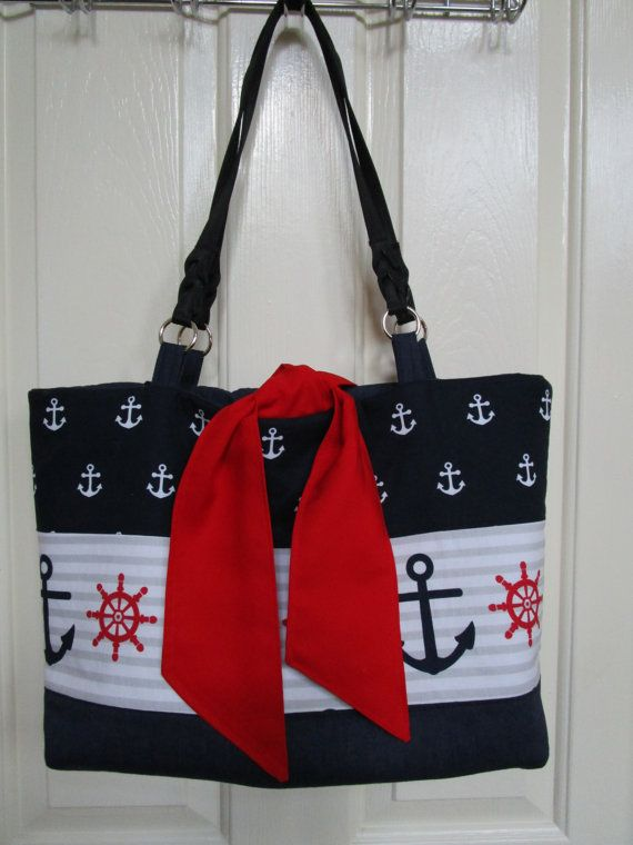 Nautical Tote Bag PATTERN Easy Sewing Pattern Weekender Bag