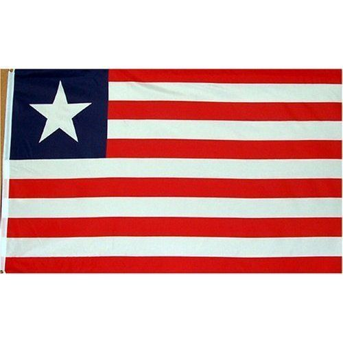 Liberia Flag Polyester 3 ft. x 5 ft. by Flags Unlimited. $0.49. Liberia Flag 3ft x 5ft Printed Polyester. A quality printed polyester 3'x 5' Liberia flag. These are finished with a strong canvas heading and 2 brass finish grommets. This flag is not as durable as the nylon version and may be made outside of the US. We stock this flag. Save 98% Off!