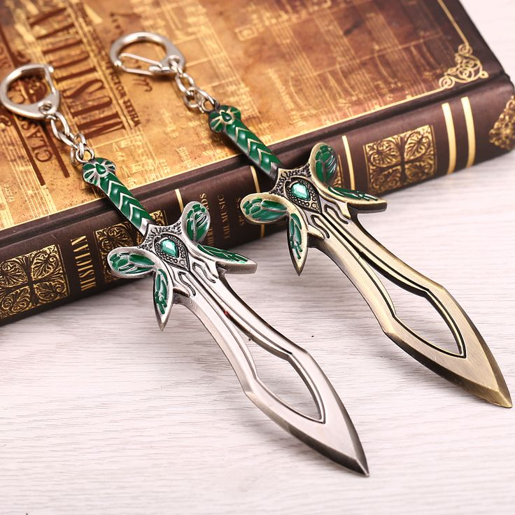 Hot Movie Jewelry Silver&Gold  Key Chain Alloy Game Dota 2 the Butterfly  Key Chain Dota 2