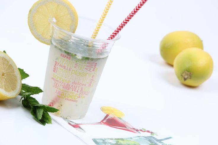 citronnade à la menthe, super frais !  Idéal pour l'été