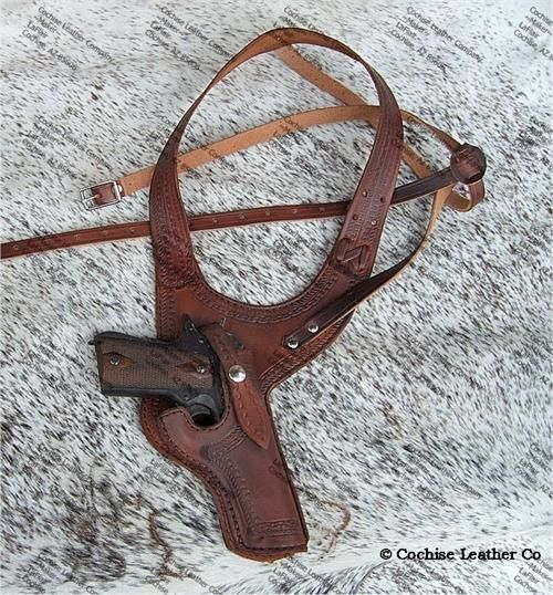 The Detective Shoulder Holster for 1911 45 caliber pistols. Made in USA