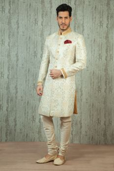 Love the Brocade Sherwani from BenzerWorld!