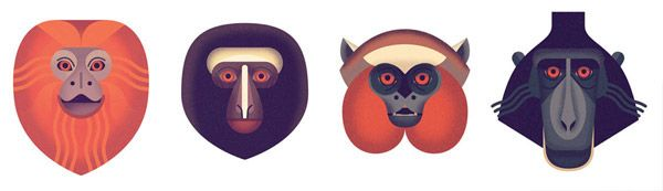 Owen Davey - Mad About Monkeys on Behance